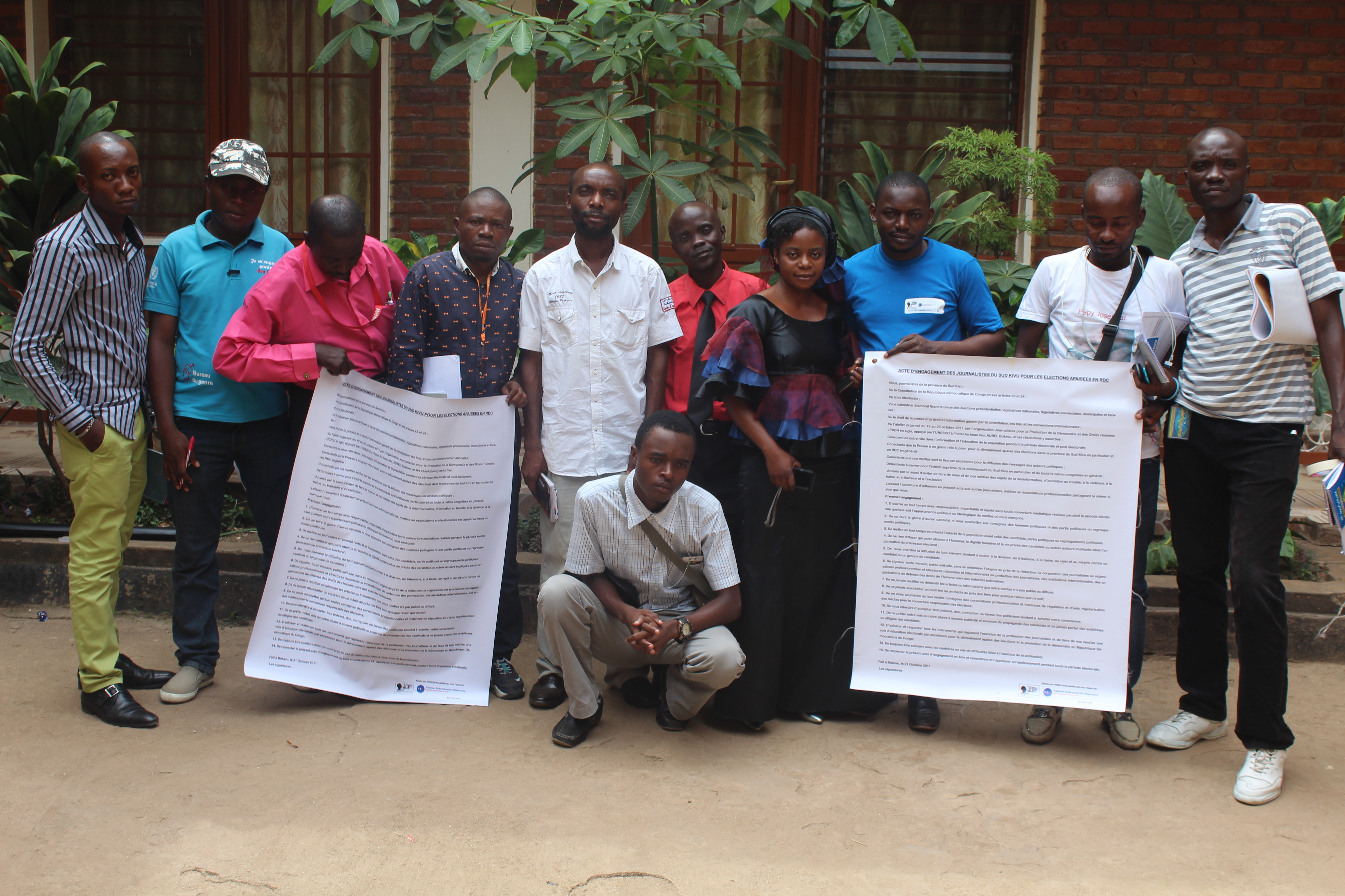 Uvira : 15 journalistes formés sur le journalisme sensible aux conflits en période électorale