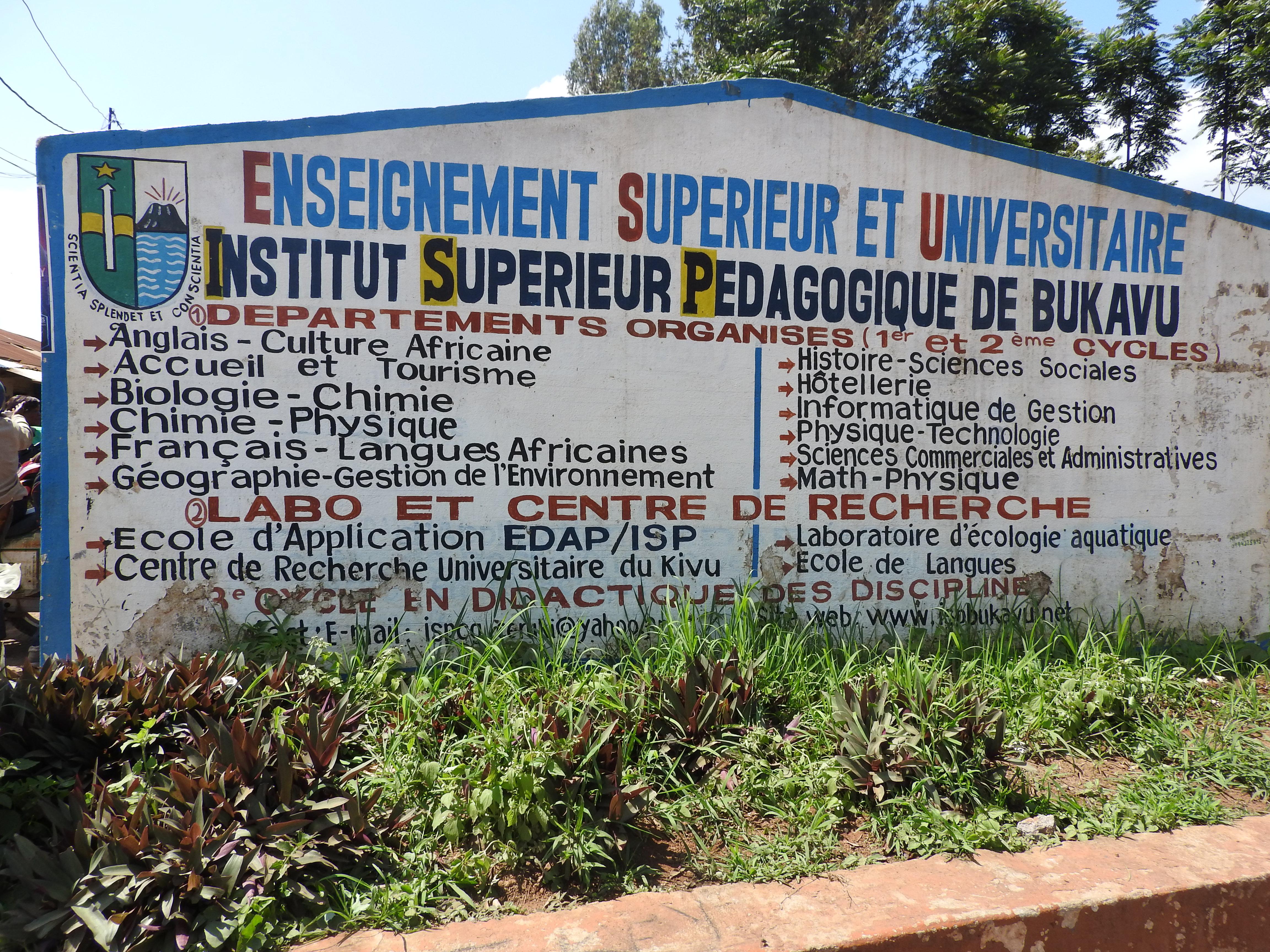 Bukavu : Echauffourées à l'ISP dans la matinée de  ce 7 décembre