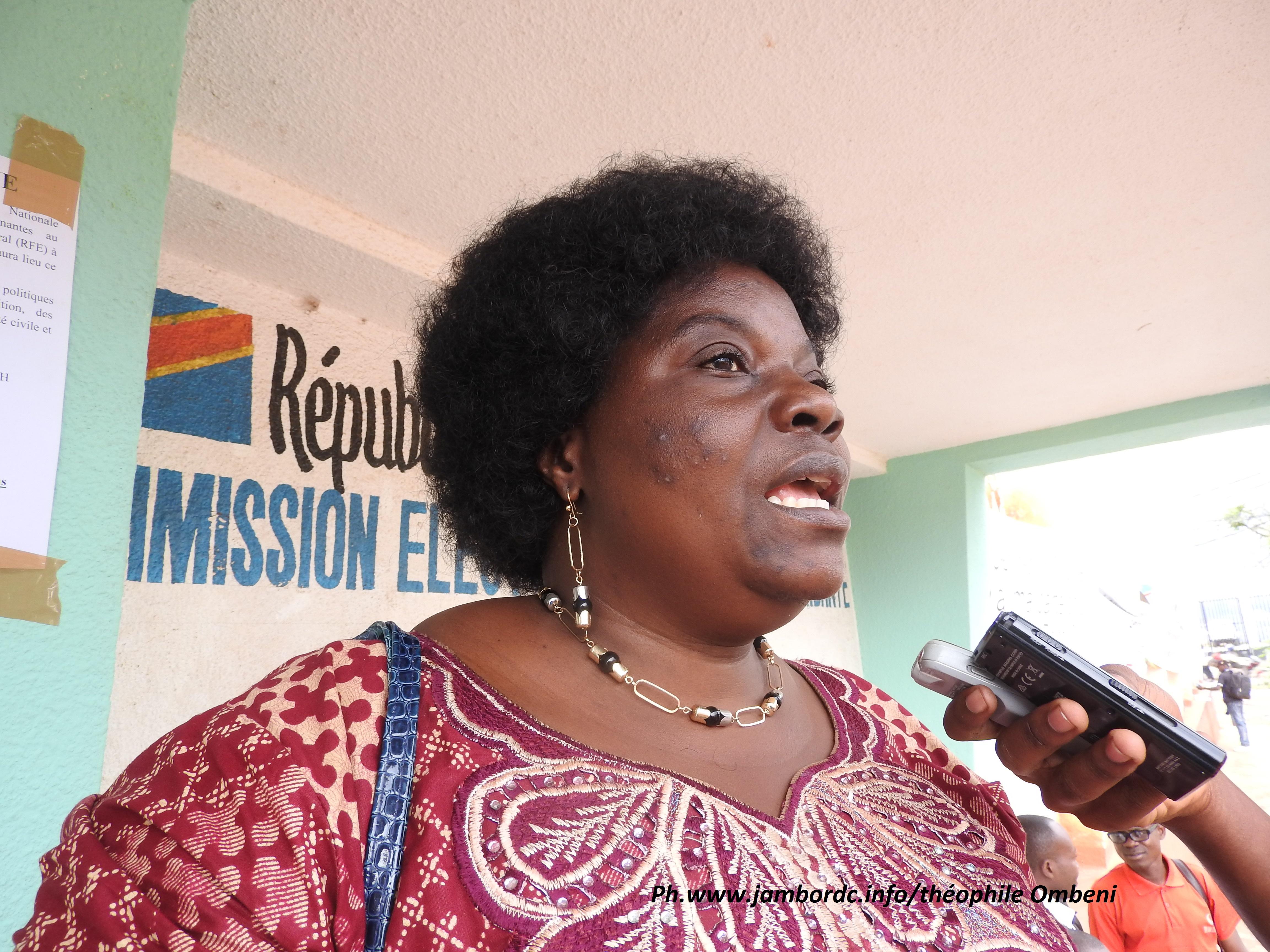 Solange Lwashiga (Caucus des femmes) : le processus électoral, une voie pour les femmes de « participer indirectement à la gestion de la chose publique »