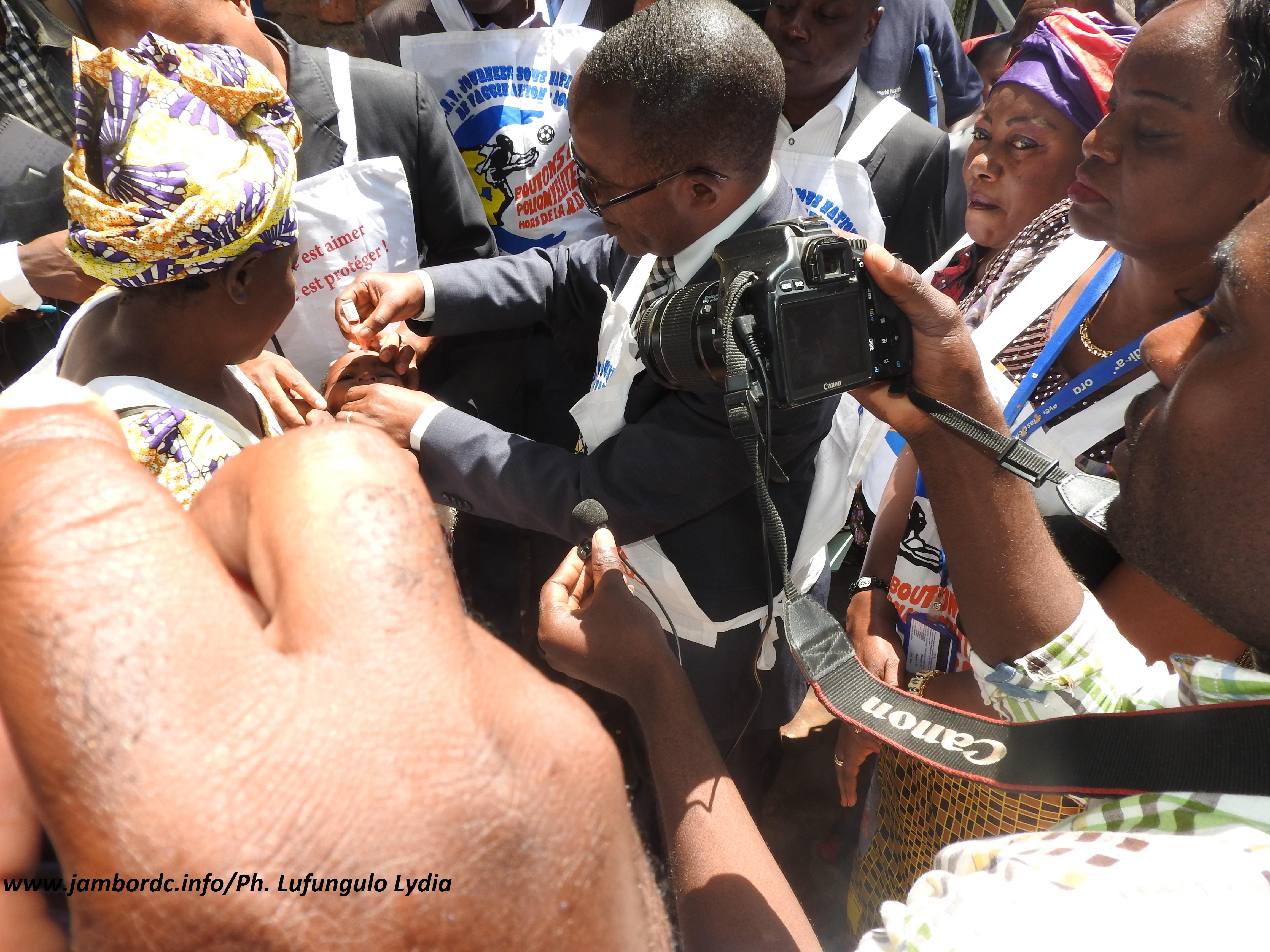 Bukavu : lancement de la  campagne de vaccination contre la poliomyélite au Sud Kivu