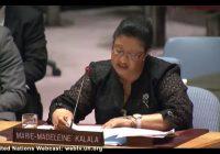 « Suite à la non-organisation des élections, une crise profonde liée à la légitimité des institutions s'est installée », selon Madeleine Kalala à l'ONU