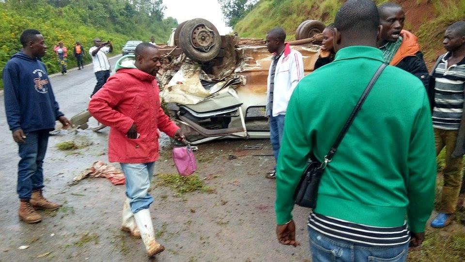 Urgent : Une dizaine de journalistes blessés dans un accident de circulation ce matin sur la route Bukavu-Kavumu