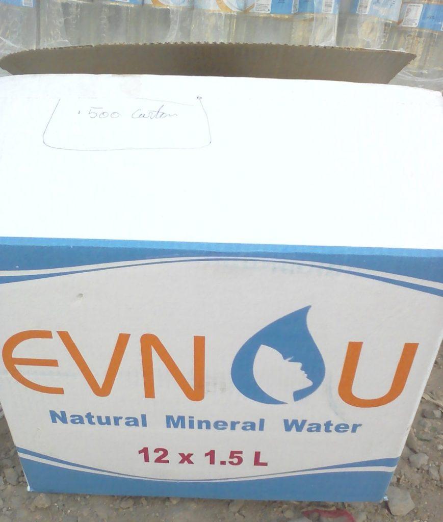 Sud Kivu: La division de la santé exige  le retrait des bouteilles de l'eau minérale EVNOU sur le marché