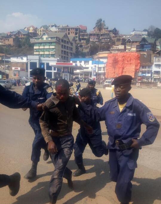 Urgent-Marche pacifique : 4 personnes blessées par balles et d'autres arrêtées à Bukavu
