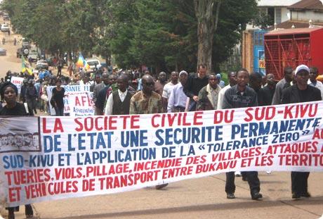 SUD-KIVU : La Fédération de la Société civile congolaise appelle la population à une marche pacifique ce samedi 8 juillet