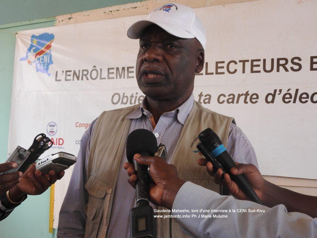 Bukavu: Gaudens Maheshe rappelle les étapes du processus démocratique accomplie par la Ceni
