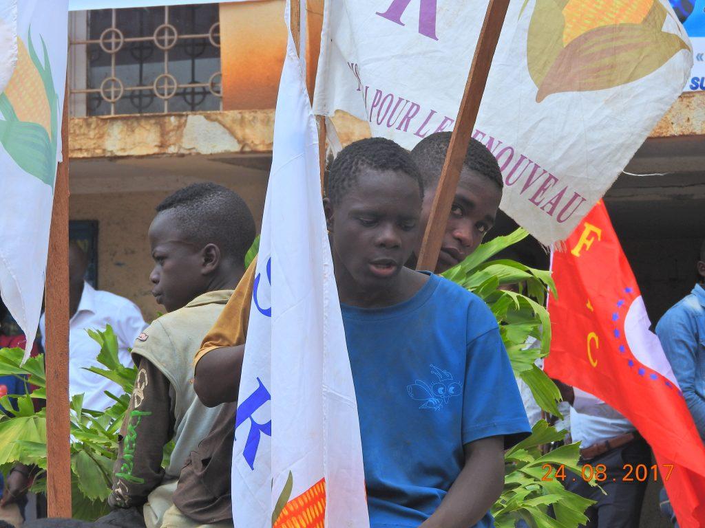 Bukavu : Des enfants mineurs utilisés à  des fins politiques