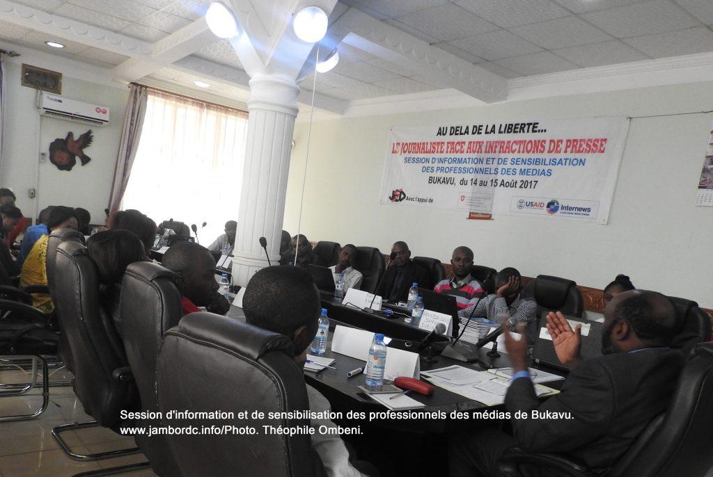 Bukavu : JED organise une session d'information des professionnels des médias