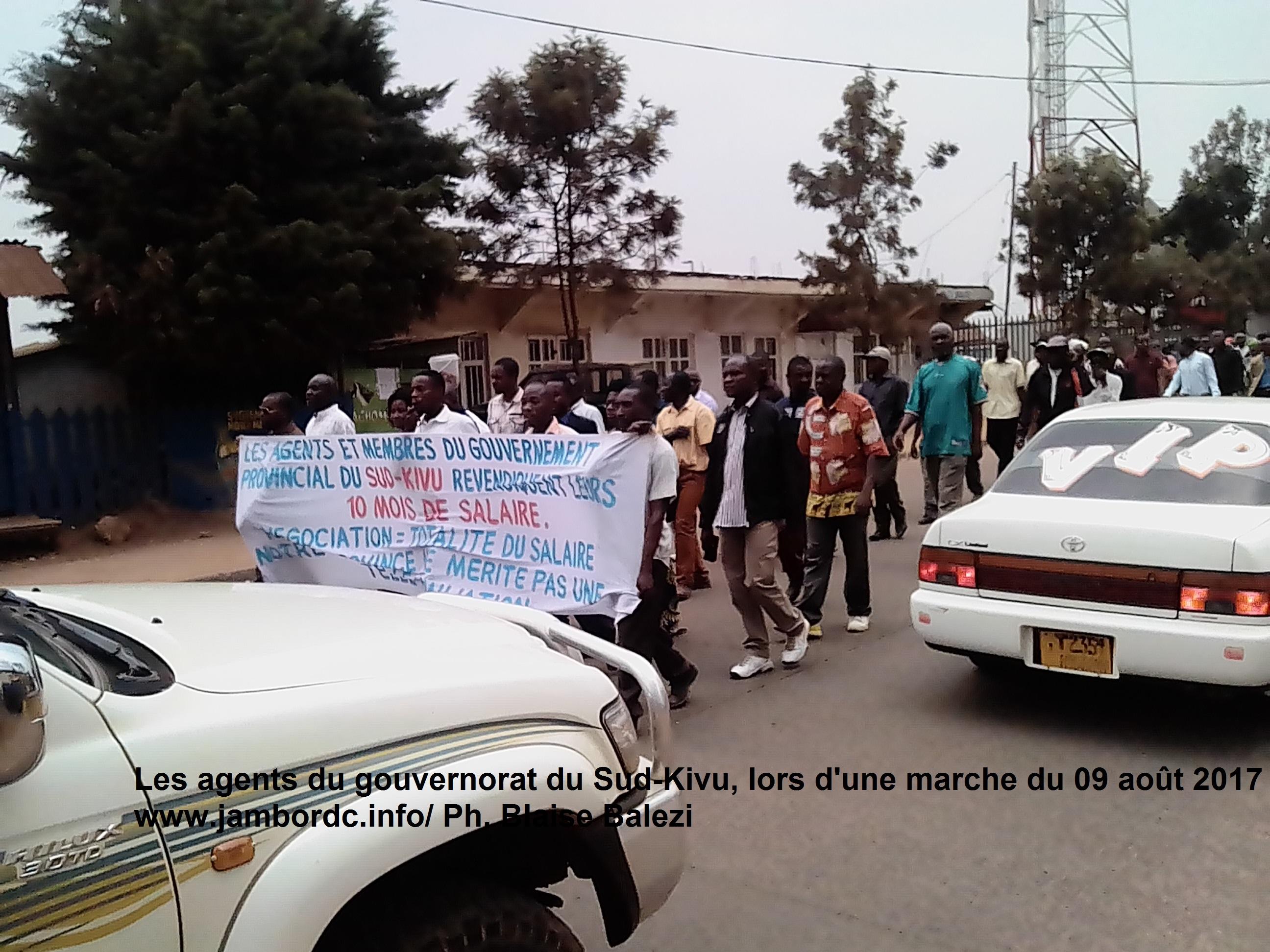 Sud Kivu : Les agents du gouvernorat envisagent  passer au plan B