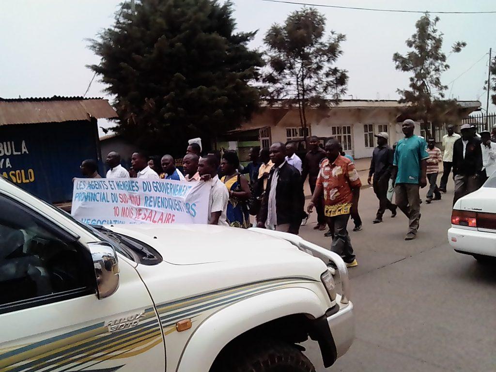 Sud -Kivu : Les agents en grève  exigent l'implication du Chef de l'Etat