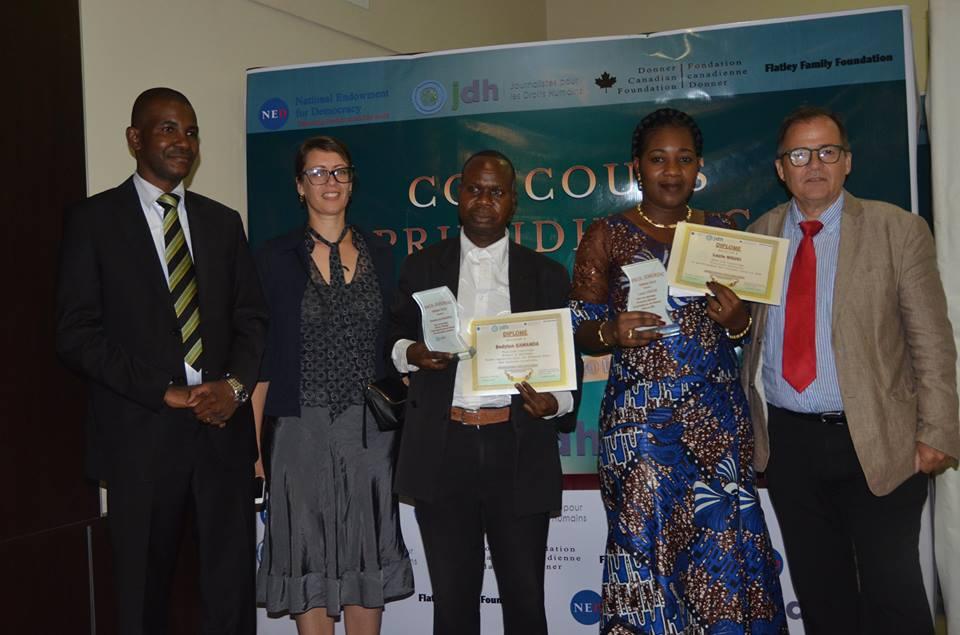Lucie Ngusi et Bandylon Kawanda reçoivent le Prix JDH 2016