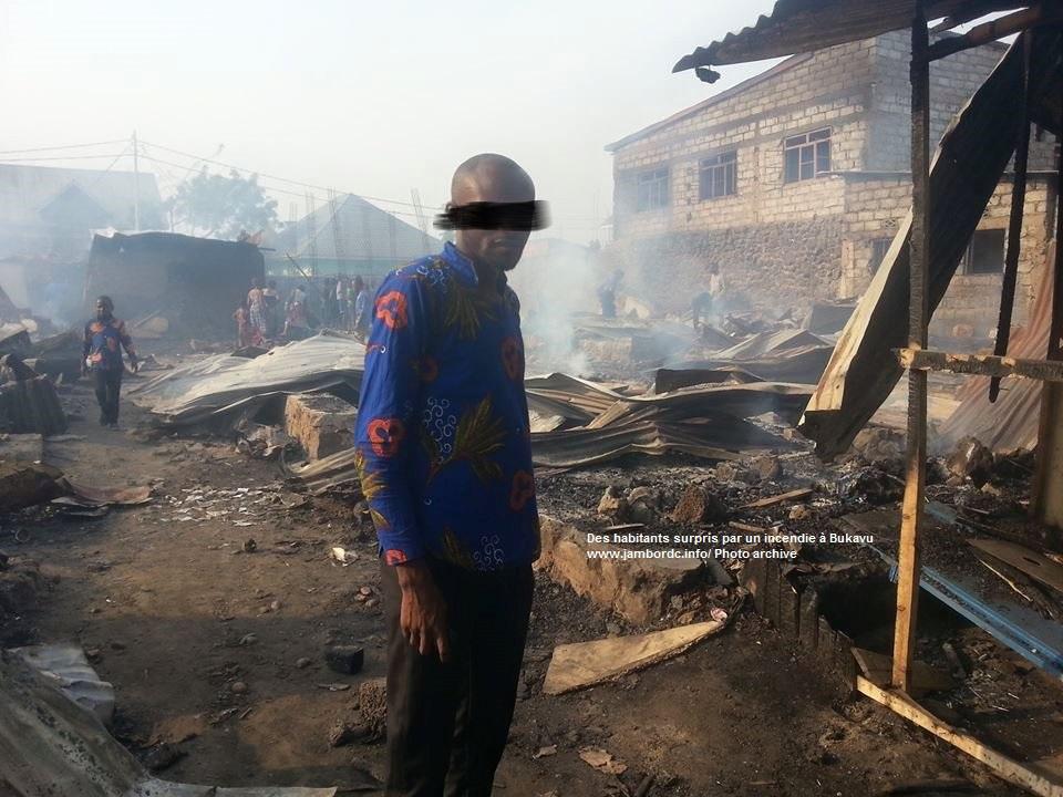 Bukavu : Un enfant meurt dans un incendie à Kadutu