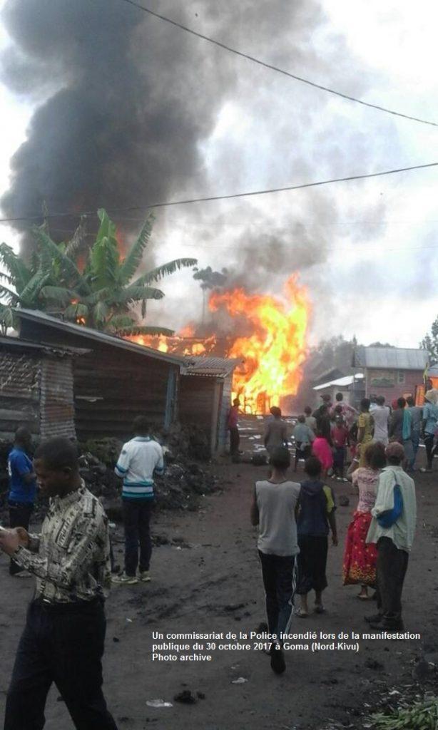Goma : Plusieurs dégâts enregistrés dans le drame du 30 octobre