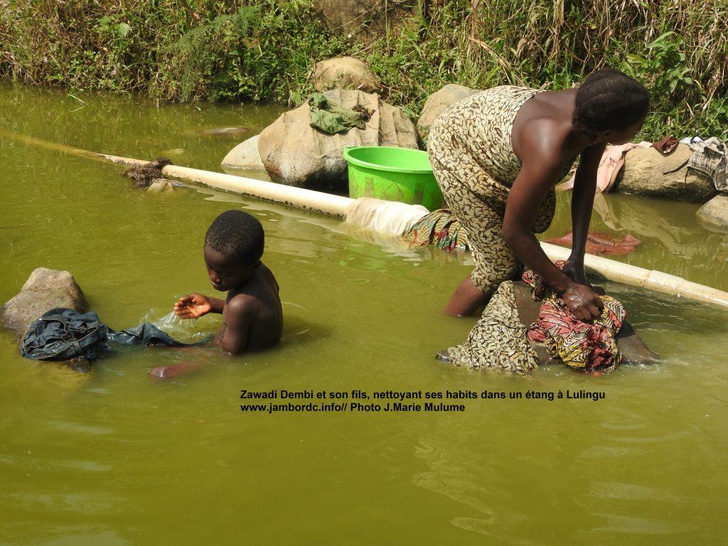 Lulingu : Faute d'eau potable suffisante, la population recourt aux étangs
