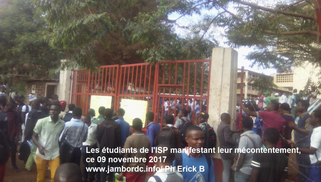 Crise à l'ISP Bukavu : Les étudiants protestent contre le mauvais traitement de leurs camarades
