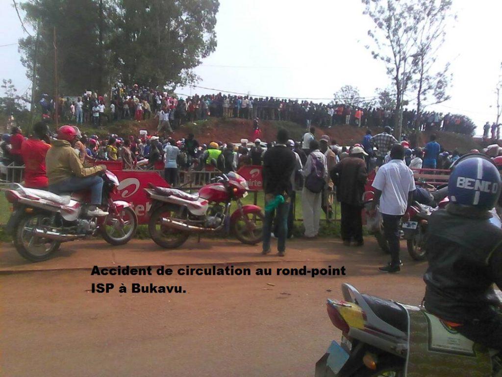 Accident à Bukavu : Des motards bloquent la circulation