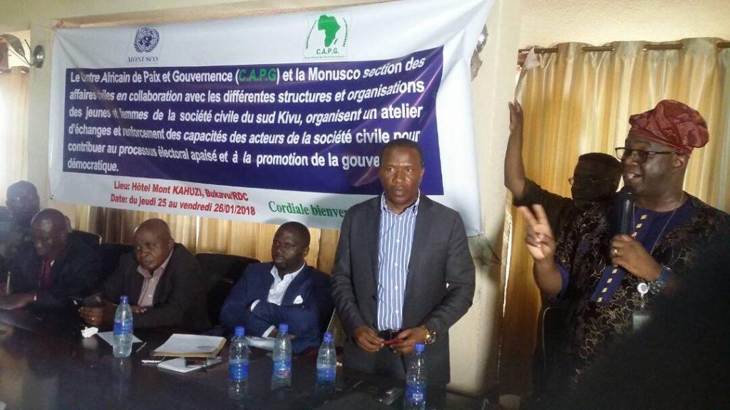 Bukavu : Le CAPG s'active dans la réduction des violences en milieu estudiantin dès lundi 23 juillet