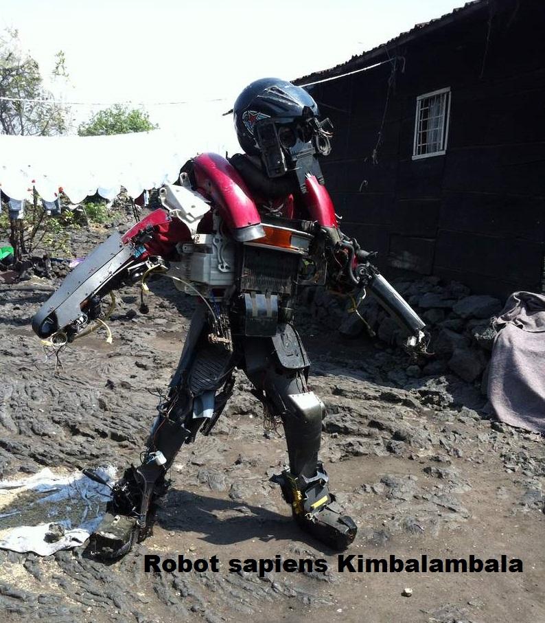 Culture : L'artiste Precy Numbi produit un robot sapiens Kimbalambala