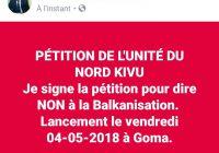 Nord-Kivu: la notabilité de la province lance la pétition de l'Unité du Nord-Kivu