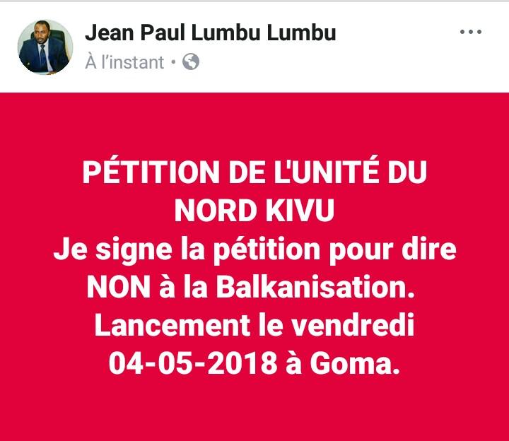 Nord-Kivu: La société civile appelle à son tour à la signature de la pétition de l'unité du Nord-Kivu