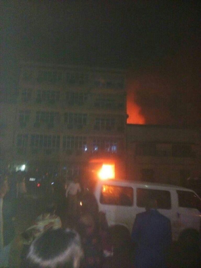 Flash : Des blessés dans un incendie en cours à l'hôtel Célestine à Bukavu