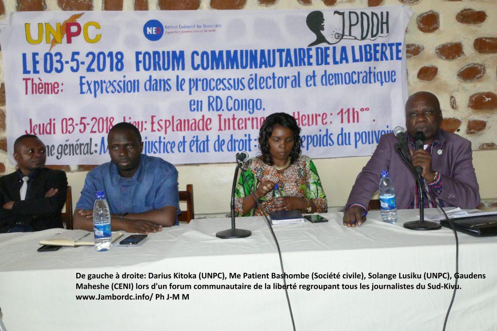 « Les jeunes et les femmes n'accèdent pas à beaucoup de ressources pour présenter leurs projets auprès de la population », déplore Me Patient Bashombe (Société civile)