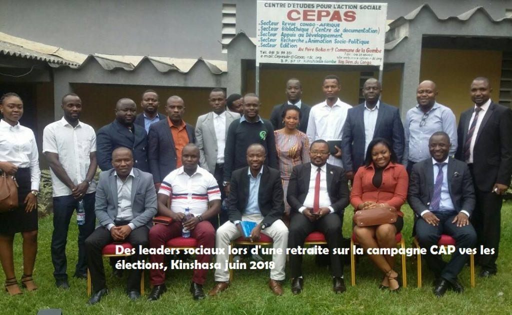 Elections 2018 : « La démarche de notre campagne est double : accompagner des acteurs sociaux à se hisser dans les institutions politiques, mais aussi, les amener à quitter la société civile  », dit Bienvenu Karhakubwa (CAPG)