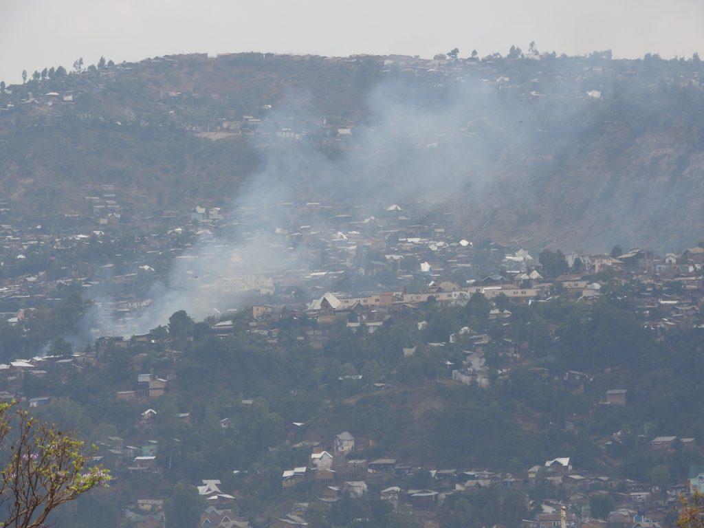 Urgent : Des maisons en feu au quartier Cimpunda à Bukavu