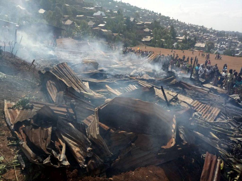 Urgent: Incendie en cours au quartier Nyalukemba à Bukavu