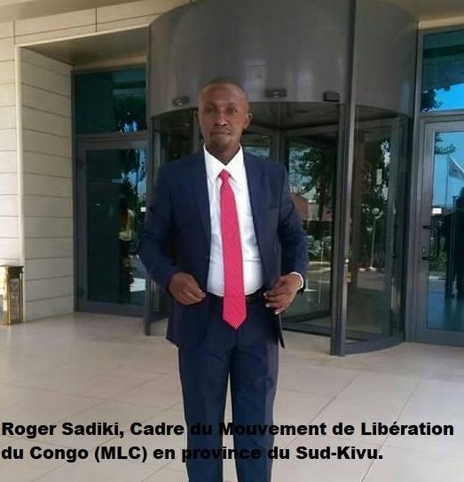 Découpage du Sud-Kivu : « Les caciques du RCD et du PPRD utilisent Muganza comme une marionnette », déplore Roger Sadiki (MLC)