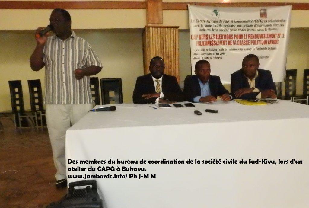 Sud-Kivu : L'asbl APSEMEPAD exige l'accompagnement du bureau de coordination de la Société civile dans ses actions