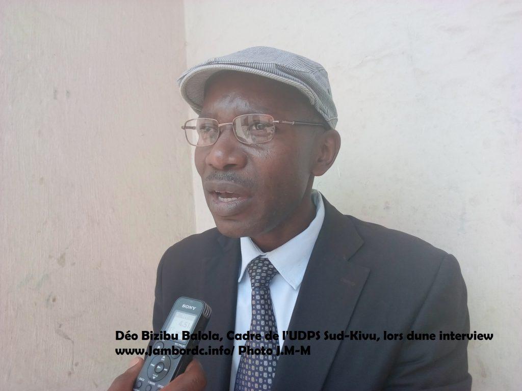 Déo Bizibu (UDPS) « On va poursuivre la lutte jusqu'à débarrasser du Congo  ce système des prédateurs  qui met à genoux le congolais »