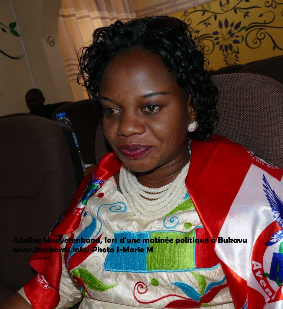 Elections 2018 : « Le besoin manifeste de la population est d'avoir des femmes capables et non pas des partis politiques forts », dit Adeline Munyerenkana (candidate)