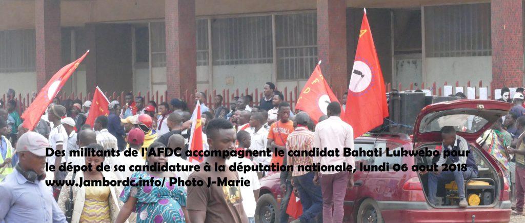 Députation nationale: Bahati Lukwebo dépose sa candidature en fanfare au Brtc Bukavu