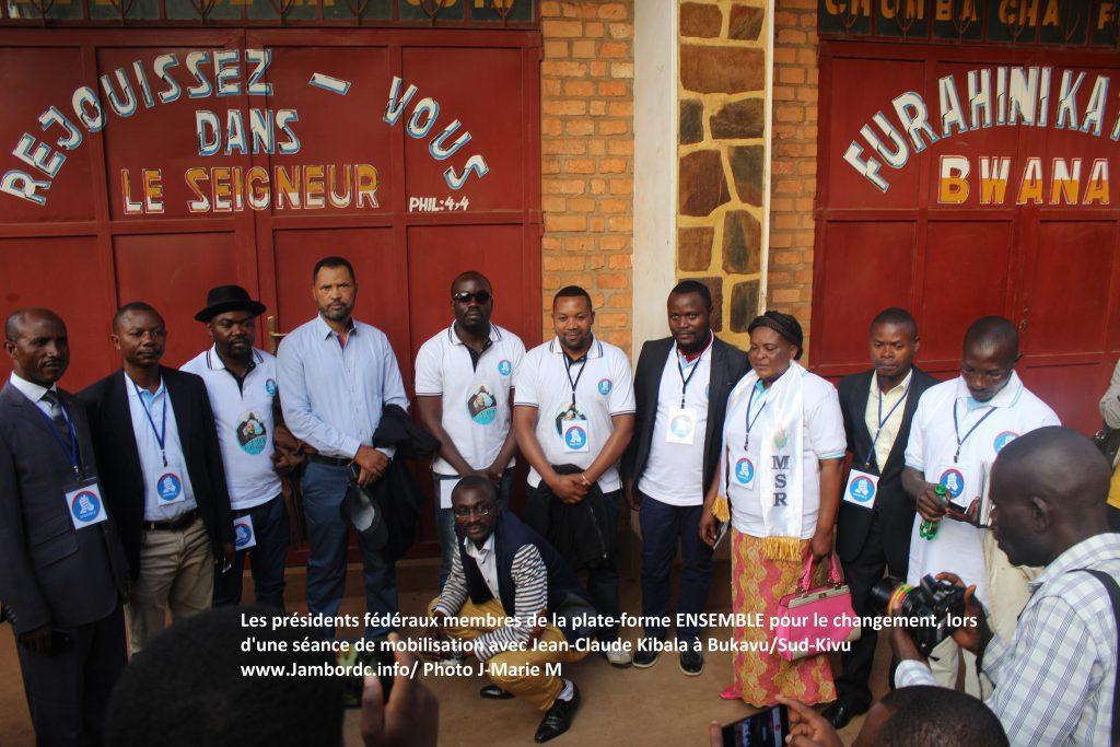 « Ensemble pour le Changment va participer au élections », précise Christopher Safari (G7)