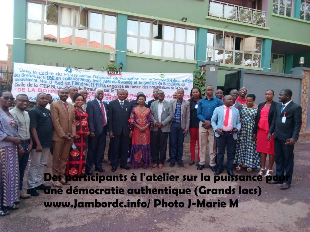 Grands Lacs : La bonne puissance pour une démocratie authentique au cœur d'un atelier à Bukavu