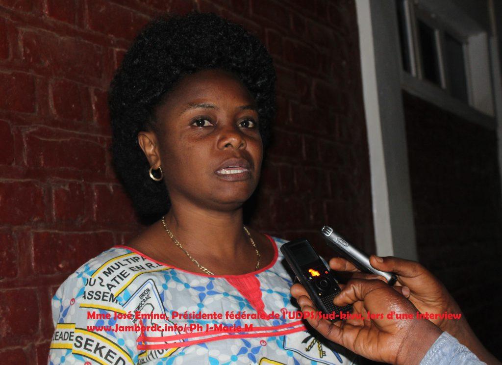 Candidature unique de l'opposition : « à l'UDPS c'est la base qui décide, nous allons battre campagne pour Felix Tshisekedi », Josée Emina/ UDPS Sud-Kivu