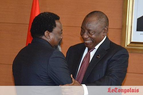 Elections en Rdc: tête-à-tête Kabila-Ramaphosa ce vendredi à Kinshasa