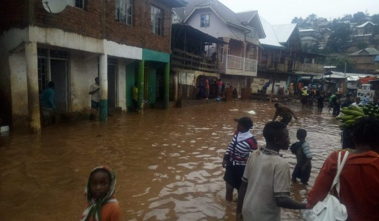 Bukavu: Nguba sous les eaux cet après midi