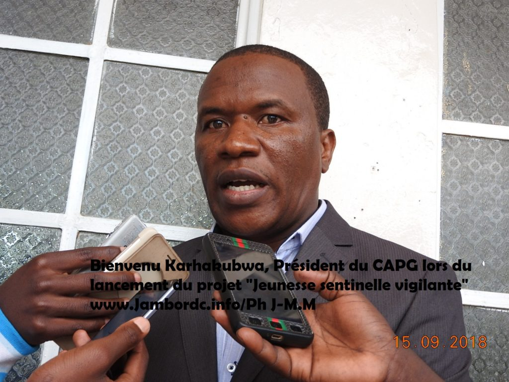 Sud-Kivu : Le CAPG soutient le projet ''Jeunesse sentinelle vigilante''