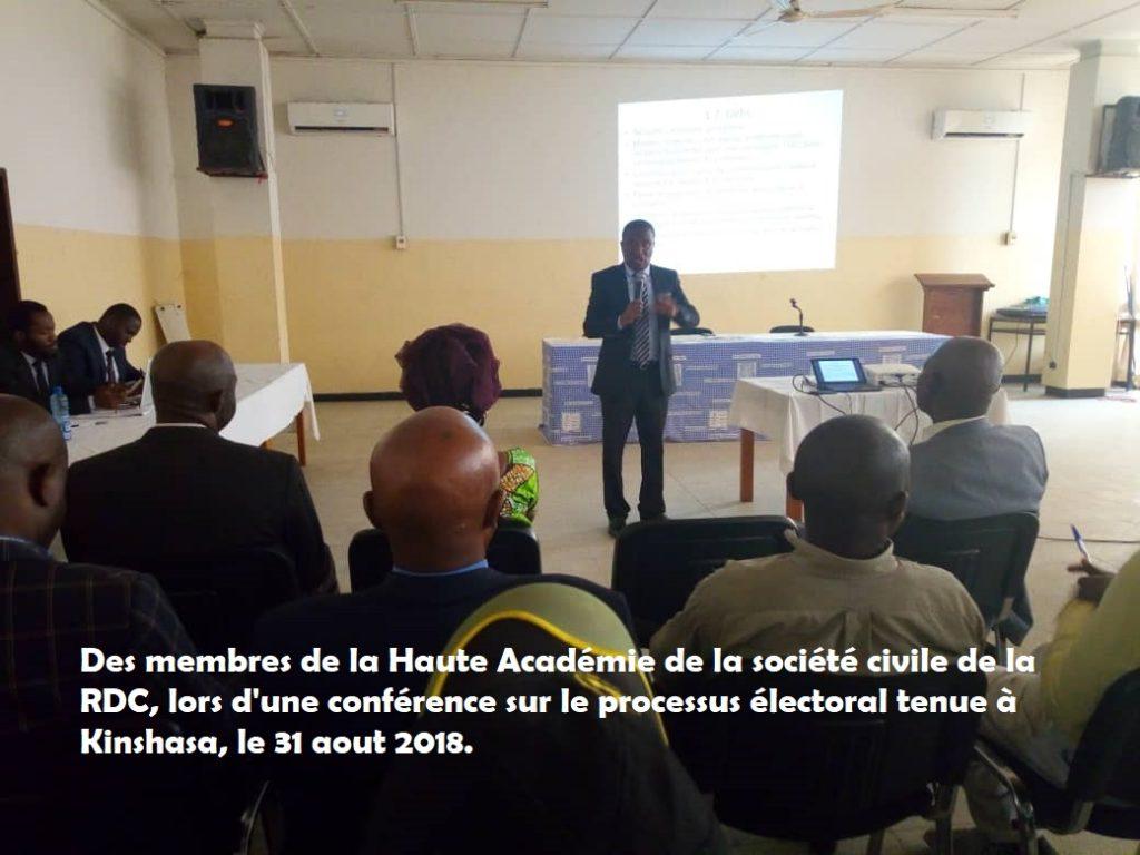 Elections 2018 : La Haute Académie de la société civile invite les OSC à éveiller la conscience des citoyens à faire un choix utile et responsable