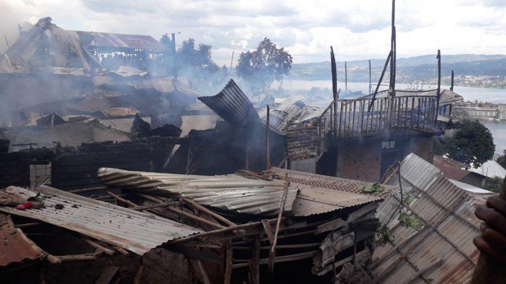 Bukavu: Un blessé dans un incendie sur l'avenue Météo ce samedi soir