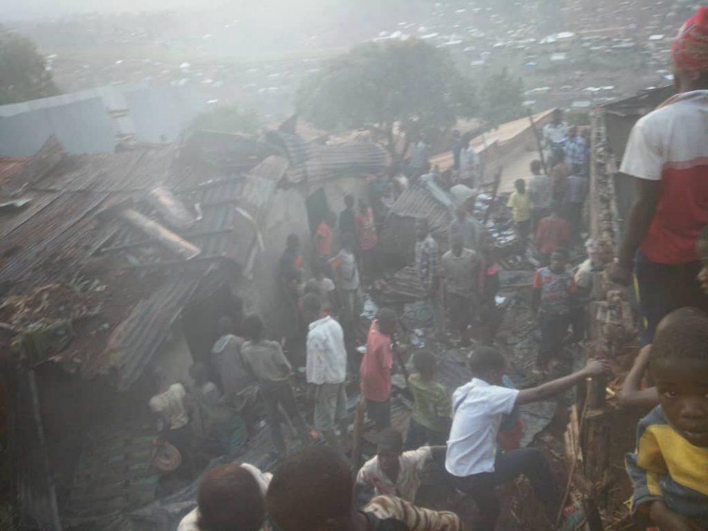 Bukavu: Le court-circuit électrique à la base d'un incendie des maisons sur l'avenue wesha(sociv)
