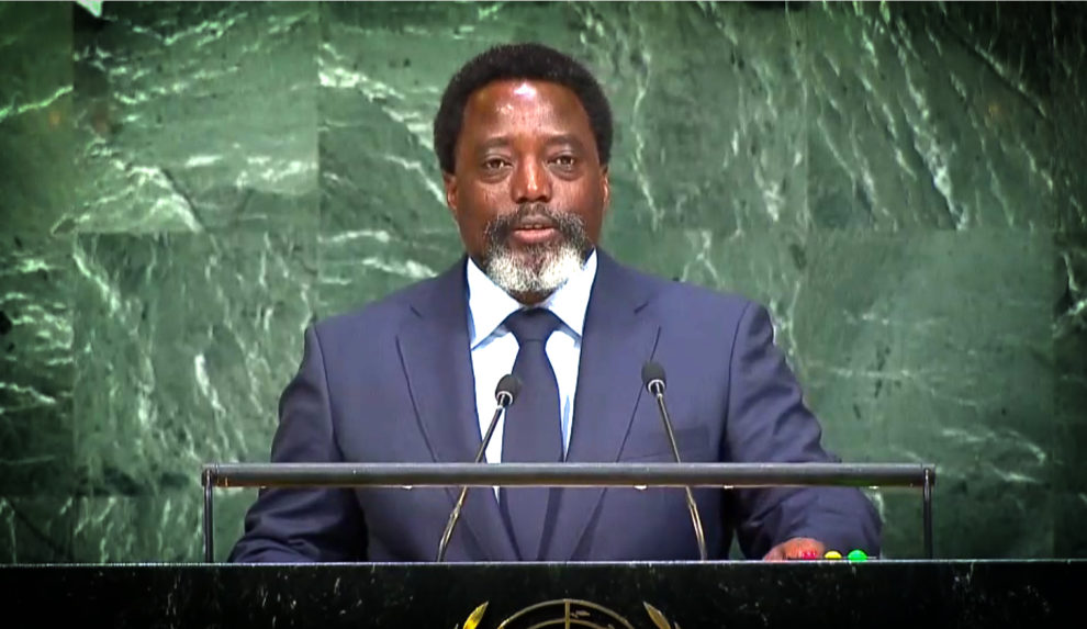 Rdc: Kabila parle du processus électoral à l'Onu ce mardi 25 septembre