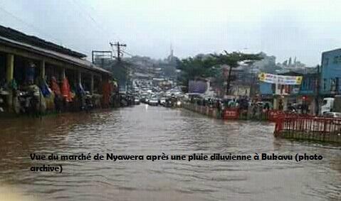Bukavu : Plusieurs dégâts enregistrés après la pluie de ce lundi