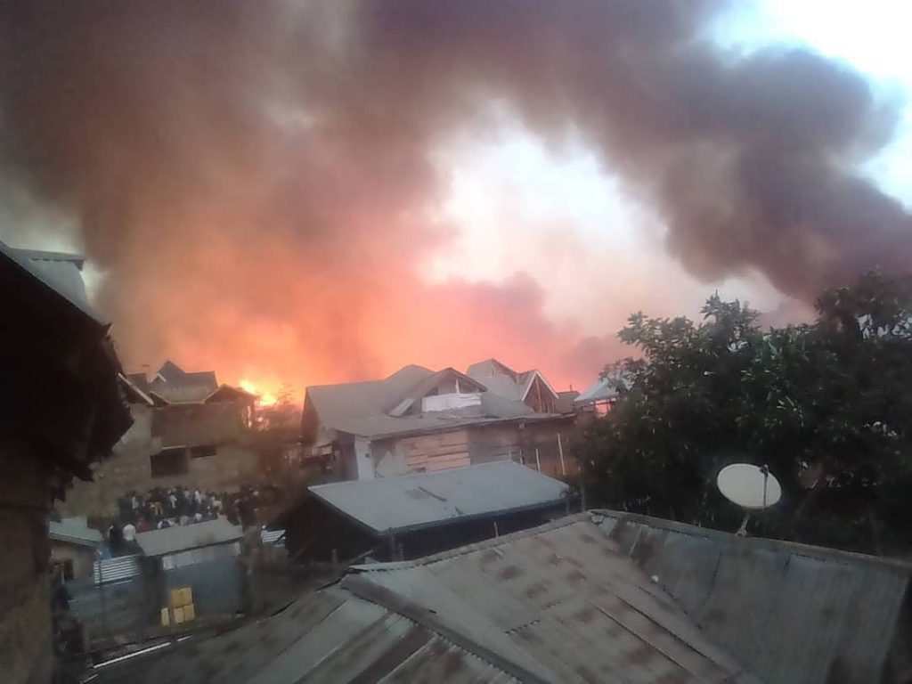 Bukavu: Nouvel incendie en cours sur l'avenue de la presse