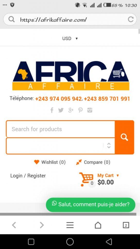 Bukavu: afrikaffaire.com, un site web d'affaires à la portée du public