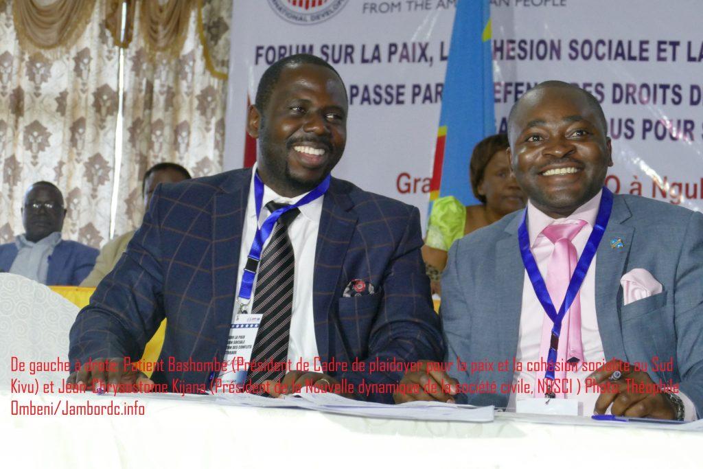 Ce qu'il faut retenir du forum sur la paix et la cohésion sociale clôturé à Bukavu ce mercredi 15 Novembre