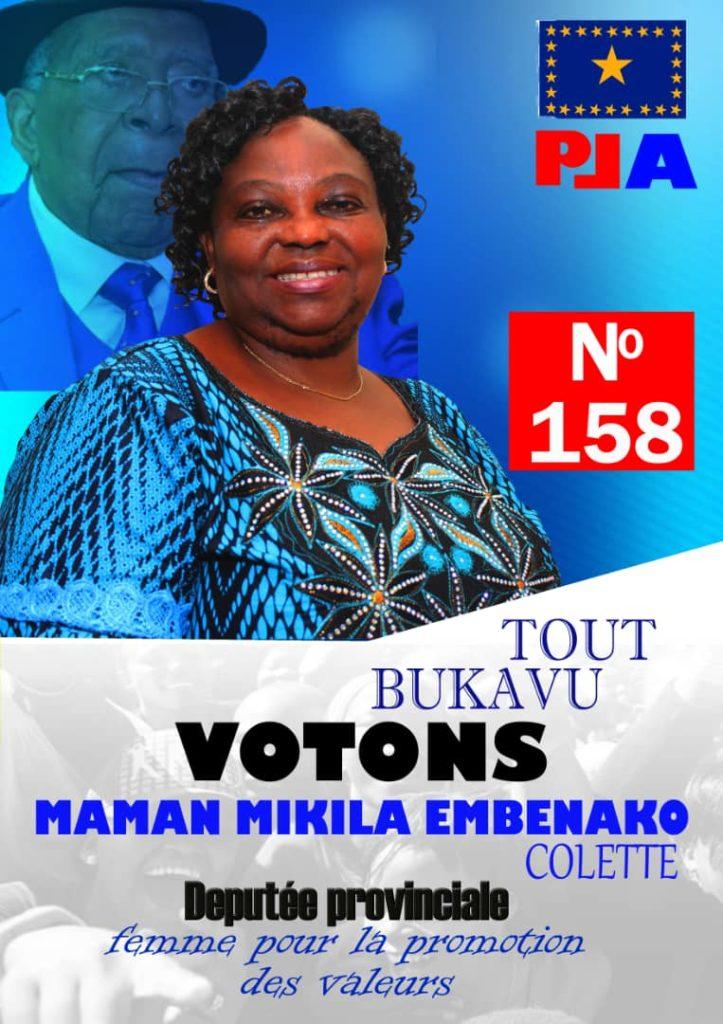 Campagne électorale: La candidate députée provinciale Mikila Embenako Colette parle de ses priorités