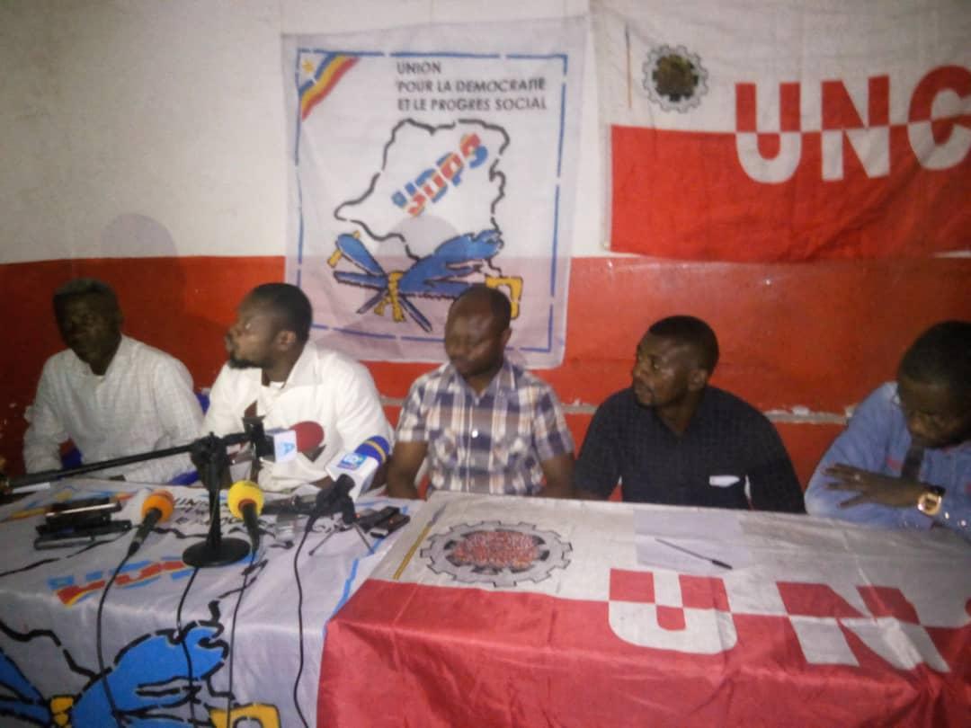 Goma: Point de presse conjoint Unc-Udps appelant à la mobilisation pour accueillir le duo Félix-Vital ce mardi 04 décembre